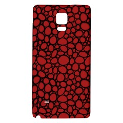 Tile Circles Large Red Stone Galaxy Note 4 Back Case