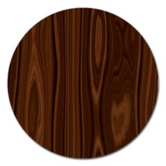 Texture Seamless Wood Brown Magnet 5  (round) by Alisyart