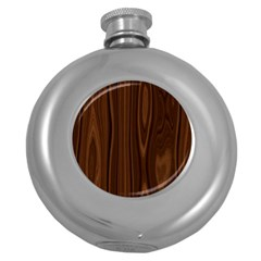 Texture Seamless Wood Brown Round Hip Flask (5 Oz) by Alisyart