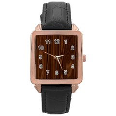 Texture Seamless Wood Brown Rose Gold Leather Watch  by Alisyart