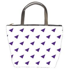 Triangle Purple Blue White Bucket Bags by Alisyart