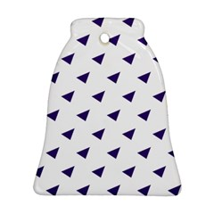 Triangle Purple Blue White Bell Ornament (two Sides) by Alisyart