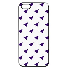 Triangle Purple Blue White Apple Iphone 5 Seamless Case (black) by Alisyart