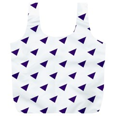 Triangle Purple Blue White Full Print Recycle Bags (l)  by Alisyart