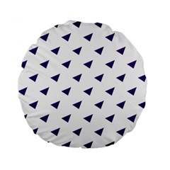 Triangle Purple Blue White Standard 15  Premium Flano Round Cushions by Alisyart