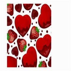 Strawberry Hearts Cocolate Love Valentine Pink Fruit Red Small Garden Flag (two Sides) by Alisyart