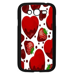 Strawberry Hearts Cocolate Love Valentine Pink Fruit Red Samsung Galaxy Grand Duos I9082 Case (black)