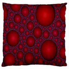 Voronoi Diagram Circle Red Large Flano Cushion Case (one Side) by Alisyart