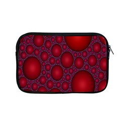 Voronoi Diagram Circle Red Apple Macbook Pro 13  Zipper Case by Alisyart