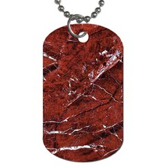 Texture Stone Red Dog Tag (one Side) by Alisyart