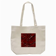 Texture Stone Red Tote Bag (cream)