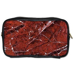 Texture Stone Red Toiletries Bags 2 Side by Alisyart