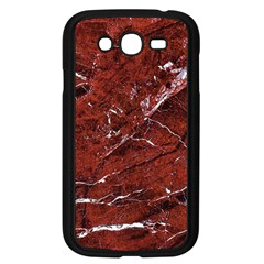 Texture Stone Red Samsung Galaxy Grand DUOS I9082 Case (Black) by Alisyart