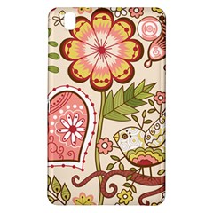 Seamless Texture Flowers Floral Rose Sunflower Leaf Animals Bird Pink Heart Valentine Love Samsung Galaxy Tab Pro 8 4 Hardshell Case