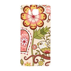 Seamless Texture Flowers Floral Rose Sunflower Leaf Animals Bird Pink Heart Valentine Love Samsung Galaxy Alpha Hardshell Back Case