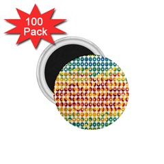 Weather Blue Orange Green Yellow Circle Triangle 1 75  Magnets (100 Pack)  by Alisyart