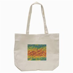 Weather Blue Orange Green Yellow Circle Triangle Tote Bag (cream) by Alisyart