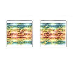 Weather Blue Orange Green Yellow Circle Triangle Cufflinks (square) by Alisyart