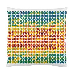 Weather Blue Orange Green Yellow Circle Triangle Standard Cushion Case (two Sides) by Alisyart
