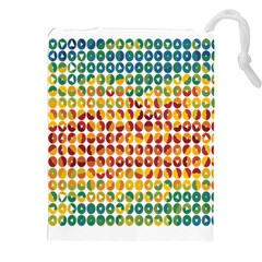 Weather Blue Orange Green Yellow Circle Triangle Drawstring Pouches (xxl) by Alisyart