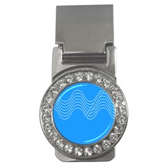 Waves Blue Sea Water Money Clips (CZ)  by Alisyart