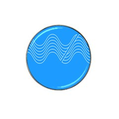Waves Blue Sea Water Hat Clip Ball Marker (10 Pack) by Alisyart