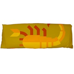 Animals Scorpio Zodiac Orange Yellow Body Pillow Case (dakimakura) by Alisyart