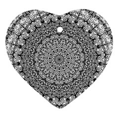 Mandala Boho Inspired Hippy Hippie Design Ornament (heart) by CraftyLittleNodes