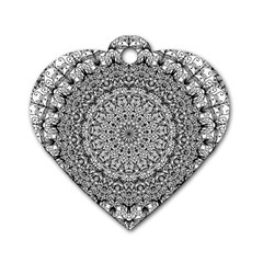 Mandala Boho Inspired Hippy Hippie Design Dog Tag Heart (one Side) by CraftyLittleNodes