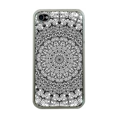 Mandala Boho Inspired Hippy Hippie Design Apple Iphone 4 Case (clear) by CraftyLittleNodes