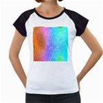 Abstract Color Pattern Textures Colouring Women s Cap Sleeve T
