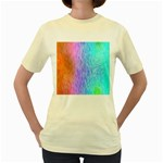Abstract Color Pattern Textures Colouring Women s Yellow T-Shirt