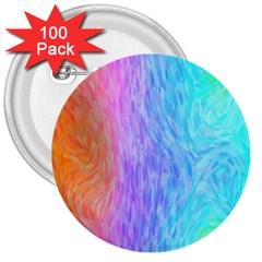 Abstract Color Pattern Textures Colouring 3  Buttons (100 Pack)
