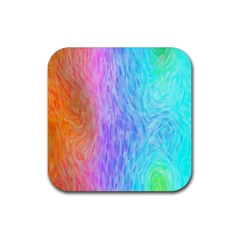 Abstract Color Pattern Textures Colouring Rubber Coaster (square)