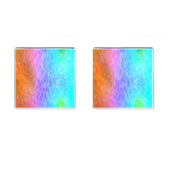Abstract Color Pattern Textures Colouring Cufflinks (square)