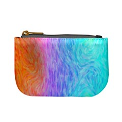 Abstract Color Pattern Textures Colouring Mini Coin Purses