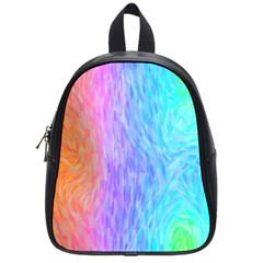 Abstract Color Pattern Textures Colouring School Bags (small)