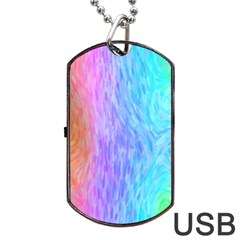 Abstract Color Pattern Textures Colouring Dog Tag Usb Flash (one Side) by Simbadda