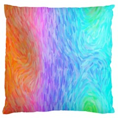 Abstract Color Pattern Textures Colouring Large Cushion Case (two Sides)