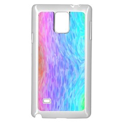 Abstract Color Pattern Textures Colouring Samsung Galaxy Note 4 Case (white)