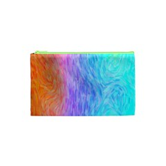 Abstract Color Pattern Textures Colouring Cosmetic Bag (xs) by Simbadda