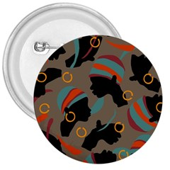 African Women Ethnic Pattern 3  Buttons by Simbadda