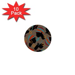 African Women Ethnic Pattern 1  Mini Buttons (10 Pack)