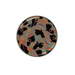African Women Ethnic Pattern Hat Clip Ball Marker (4 Pack)