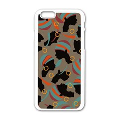 African Women Ethnic Pattern Apple Iphone 6/6s White Enamel Case by Simbadda