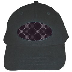 Abstract Seamless Pattern Black Cap
