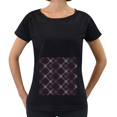 Abstract Seamless Pattern Women s Loose-Fit T-Shirt (Black) by Simbadda
