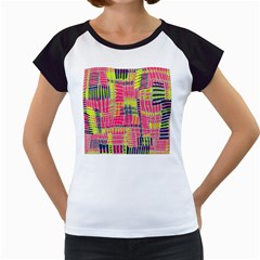 Abstract Pattern Women s Cap Sleeve T