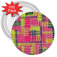 Abstract Pattern 3  Buttons (100 Pack)
