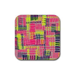 Abstract Pattern Rubber Coaster (square)